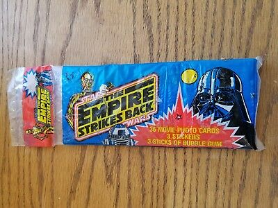 The Empire Strikes Back bubble gum and cards