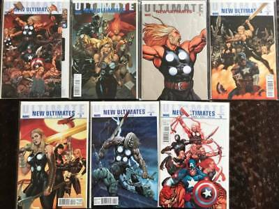 Ultimate New Ultimates Comic Book Lot, 7 Issues, Marvel  NM, Vol. 1, Variants