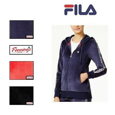 NEW! Women's Fila Colorblock Velour Track Jacket VARIETY Size an Color! SALE!