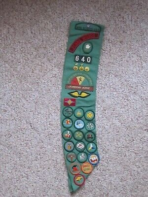 (34) Girl Scout Patches & (5) Stars from the Early 1980's