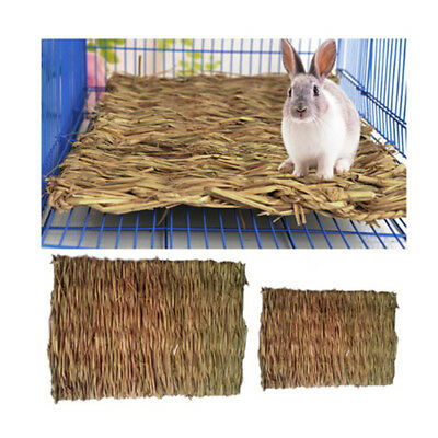Pet Rabbit Grass Activity Mat Guinea Pig Woven Straw Cage Pad Bedding Toy Hot GS