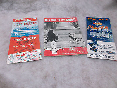 Vintage New Orleans Travel Brochures and Maps, 1968-1969