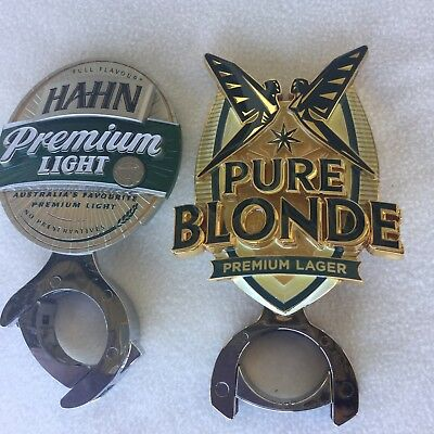 HAHN & PURE BLONDE PREMIUM LAGER METAL BADGE Beer Tap Top