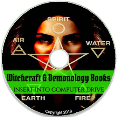 Witchcraft Books ~270 Vintage Books on DVD ~ Wicca Demonology Pagan Occult Magic