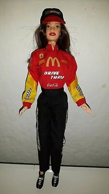 Barbie NASCAR Coca Cola Mc Donald's