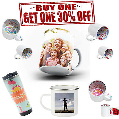 Personalised Mug Collage Style Coloured Inner Photos Colour Changing Magic Mug