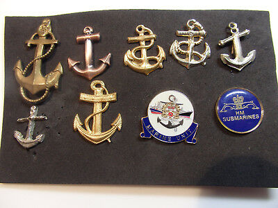 Maritime assortment  of badges and anchors for models or collections