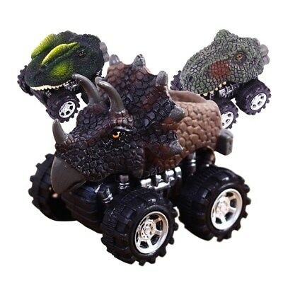 4PCS Friction Powered Car Toy for Kids Playing Gifts Baby Dinosaur Model Car Toy