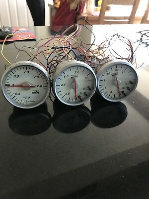 Hks Gauges Boost Oil Temp And Pressure Very Rare Blitz Apex Gready