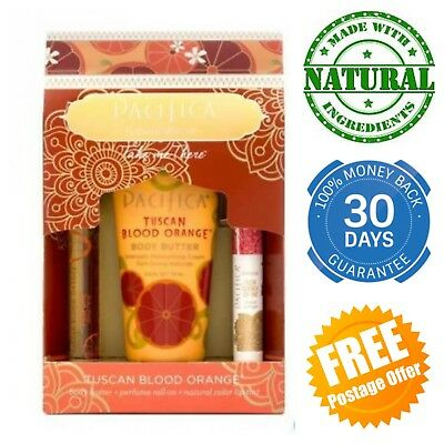 Pacifica Take Me There Gift Set Tuscan Blood Orange Box Perfume Body Butter