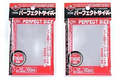 KMC 100 Pochettes Card Barrier Perfect Size Soft Sleeves  2 Pack Value Set