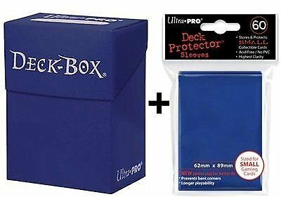 Ultra Pro Deck Box  60 Small Size Protector Sleeves - Blue - Yu-Gi-Oh