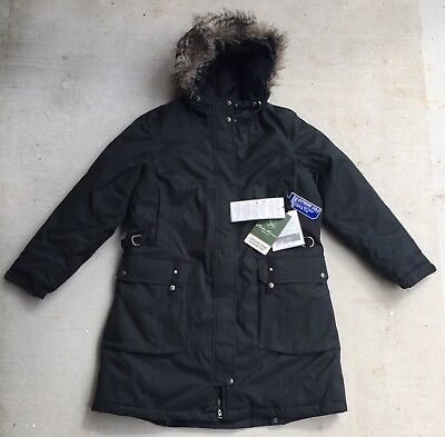 0ec8685b79c36 NWT Eddie Bauer Women Superior Down Stadium Coat Parka Hood Black XL  359  Jacket