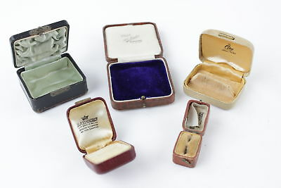 5 x Antique & Vintage Jewellery Boxes Inc. Ciro Branded - Perfect for Display