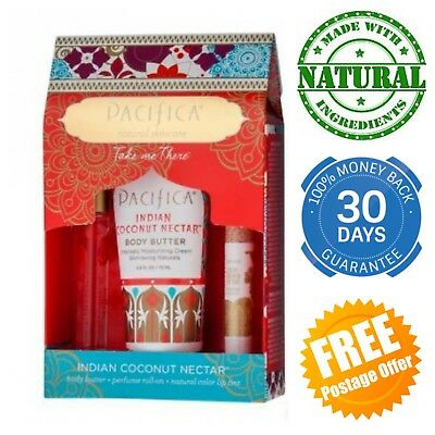 Pacifica Take Me There Gift Set Indian Coconut Nectar Box Perfume Body Butter