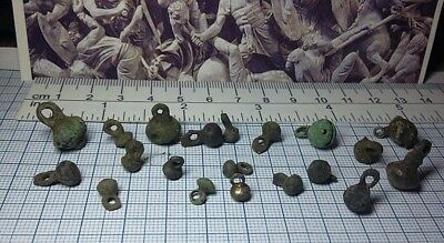 "20pcs Ancient Beautiful bronze ""buttons weights"" Viking, Kievan Rus 10-13 AD#206"