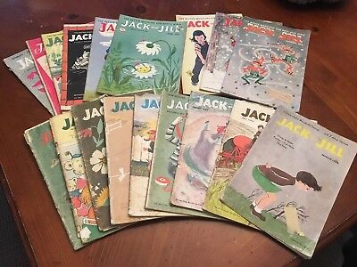 Lot of 18 Vintage Jack and Jill magazines 1951-1956 Children's