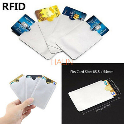 10PCS RFID Secure Sleeve Credit Debit Card Case Blocking Protector Anti Theft