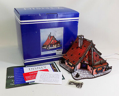 """NEW! Forma Vitrum Disney Lighted Village """"Geppetto's Toy Shop"""" #409 of 1,940"""