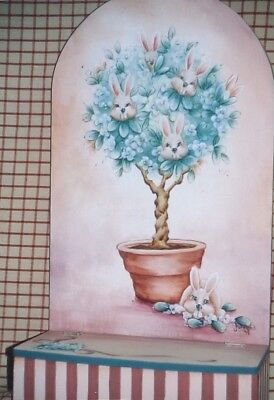 """Janet Moreland vintage tole painting pattern """"The Bunny Tree"""""""