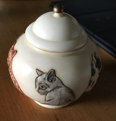Harmony Ball Jardinia On the lookout look out cats Cachepot Urn