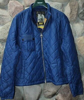 Barbour Int. Jacket Coat Bowmore Blue Quilted MQU0820BL52 XX-Large XXL UK SIZING
