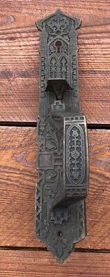 Antique Vintage Brass Art Nouveau Deco Victorian ORNATE Door Handle Pull