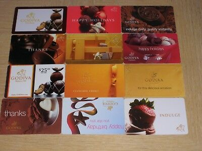 Godiva   12 different new collectible gift cards