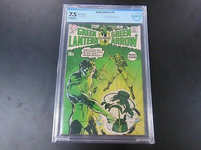 Green Lantern #76 CBCS 7.5 1970 DC Comics 1st Neal Adam Green Arrow HOT Mega Key