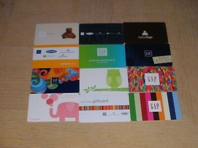 GAP   12 different new and used collectible gift cards