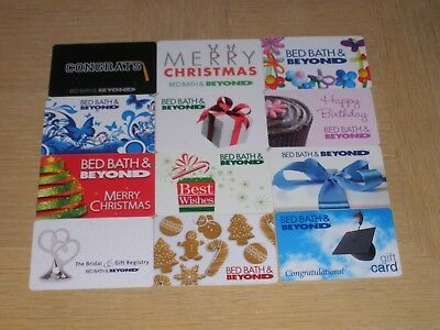 Bed Bath and Beyond   12 different new collectible gift cards