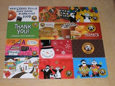 Einstein Bros. Bagels   12 different new collectible gift cards