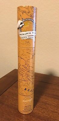 WORLD MAP Scratch Map Travel Edition UK Document Travel Size from Luckies NEW!