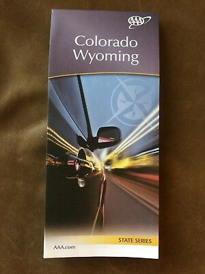AAA COLORADO WYOMING Travel Road Map US State Series Vacation Roadmap 2018-2019