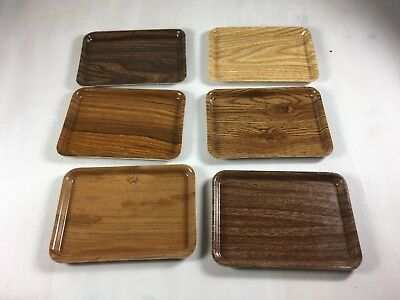 Vintage Lot of Camtray Salesman Sample Plastic Fiberglass Serving Trays Set of 6