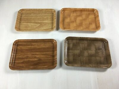 Vintage Lot of Camtray Salesman Sample Plastic Fiberglass Serving Trays Set of 4