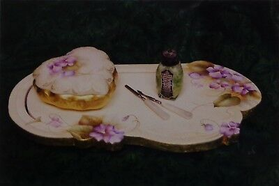 """Peggy Stogdill tole painting pattern """"Violets For Milady"""""""