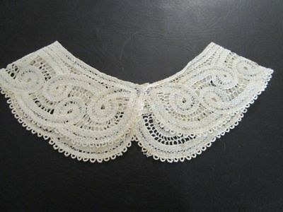 Vintage Child's Ivory Lace Battenburg Collar