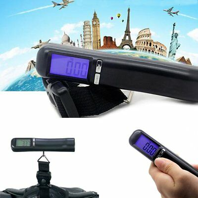 Portable Digital Hanging Luggage Weight Electronic Strap Scale 50kg 110lbs US