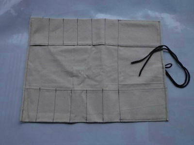 6 Pocket Japanese Canvas Chef Knife Roll Bag Carry Case Knife Storage Wallet Hot
