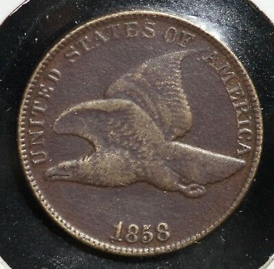 1858 Flying Eagle One Cent 1C Coin