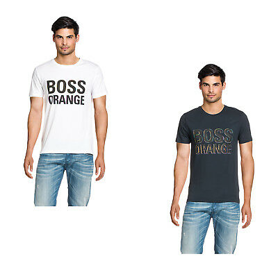 BOSS ORANGE Herren Longsleeve T-Shirt Langarm Wolle Shirt Top