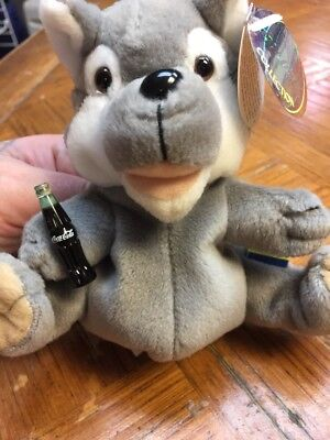 Coca Cola International Collection Bean Bag Plush Howls Romania Wolf 1999
