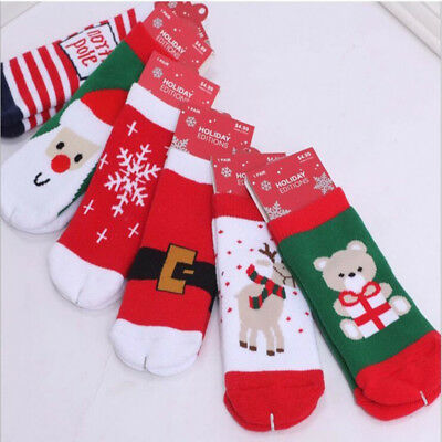 Merry Christmas Ankle Socks Cotton Striped 1Y-5Y Boy Girl Child Kids Baby Winter