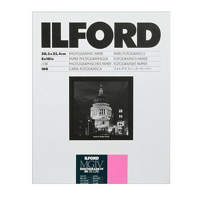 """Ilford 8 x 10"""" Multigrade IV RC Deluxe B&W Paper, Glossy Surface, 100 Sheets"""