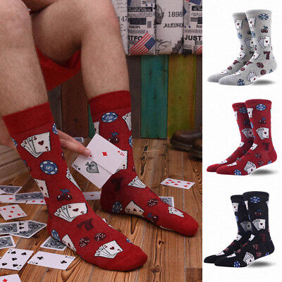Creative Personality Crew Men Socks Business Happy Design Sokken Skateboard Sock