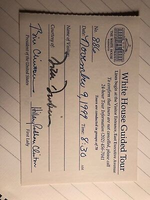 White House Guided Tour ticket Clinton 1999
