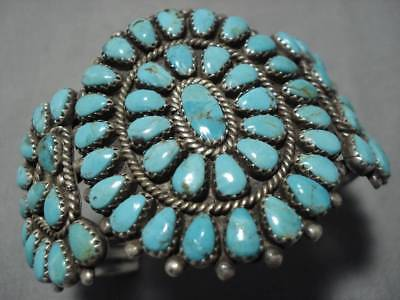 Museum Vintage Navajo Royston Turquoise Sterling Silver Bracelet Old Cuff