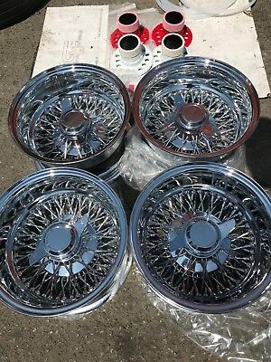 Vintage Chrome Wire Spoke Wheel Covers 1978 1982 Lincoln Town Car