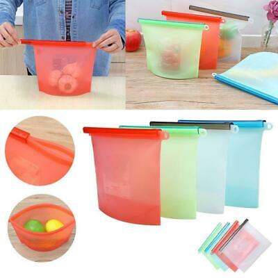 1500ml Reusable Silicone Food Storage Container Fruit Veg Milk Preservation Bags
